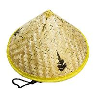 Bamboo Conical Hat [Leaf Design]